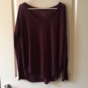 Purple loose fitting long sleeve